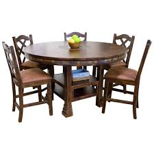 Sunny Designs Dining Chairs Santa Fe Traditional Round Dining Table With Slate Tile