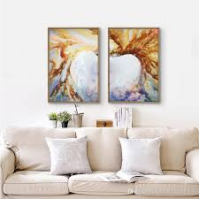 2018 2 hand made oil painting two panel abstract picture wood panel for painting