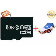 Shop bán Thẻ nhớ 8GB class 10 tặng 1 đầu đọc thẻ All-in-one