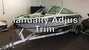how to manually adjust outboard boat trim troubleshooting