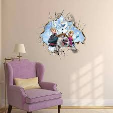 interesting design ideas frozen wall decor new trends 3d decal girls room 2 for 20 stickers