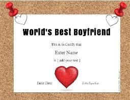 Best Boyfriend Award Free Customization