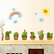 walls decal lovely cacti wall stickers bathroom window decoration living room bedroom background beautify art decor 3 2hl c r on cactus wall art nz with halloween window decals nz buy new halloween window decals online