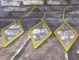 better homes and gardens gold metal 3 pc diamond mirror set for