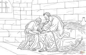 Paulus In De Gevangenis Kleurplaat Gratis Kleurplaten Printen