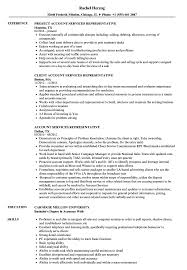 Account Services Representative Resume Samples Velvet Jobs
