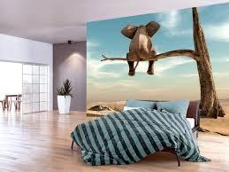 Foto Wallpaper Elephant On The Tree Dieren Fotobehang