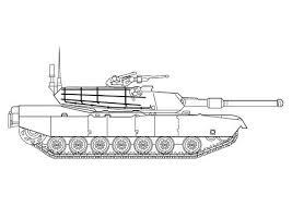 Kleurplaat Tank