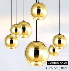 stirring copper sliver gold shade mirror ball pendant light fab mix home
