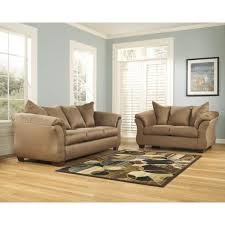 flash furniture signature design by ashley darcy 2 piece mocha fabric living room set