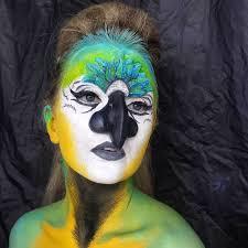 blue parrot makeup idea