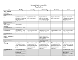 sample lesson plan for preschool best photos of printable weekly preschool lesson plans
