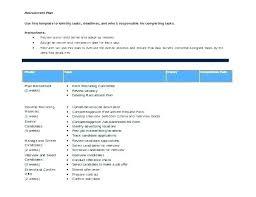 Recruiting Plan Template Recruitment Strategy Planning Template