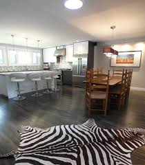 Kitchen With Hardwood Floors Contemporary Kitchen With Hardwood Floors Open To Dining Room