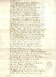 john donne s holograph of a letter to the lady carey and mrs john donne s