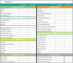 Monthly And Yearly Budget Template Yearly Personal Budget Template Wsopfreechips Co
