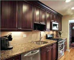 dark cabinets kitchen. Kitchen Backsplash Cherry Cabinets Ideas How To Pair Colors With Dark . C