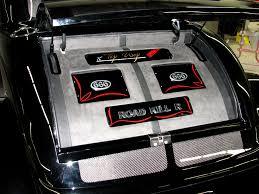 custom upholstered trunk audio installation