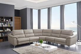grey leather sectional to enlarge