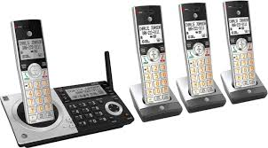 at t cl83407 dect 6 0 expandable cordless phone system with digital answering system and smart call blocker silver black