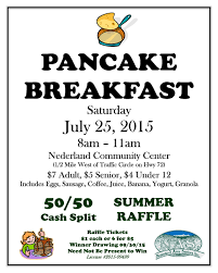 nederland area seniors to host pancake breakfast 25 pancake breakfast town ad sign w raffle 07 15