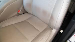 leather seat stains easily