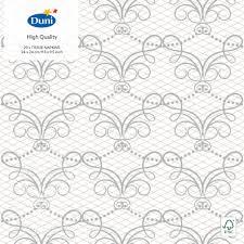 Купить <b>Салфетки бумажные Duni</b> Milena 3 слоя 24*24см 20шт с ...