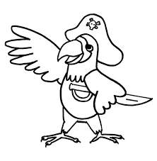 Pirates coloring pages for kids. Pirate Parrot Colouring Pirate Coloring Pages Animal Coloring Pages Cute Coloring Pages