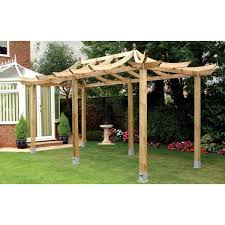 Small Picture Grange Japanese Extended Pergola Curved Rafter Style Roof FSC