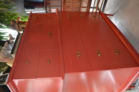 lacquered furniture. red lacquered chest furniture u