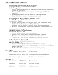 hotel security resume
