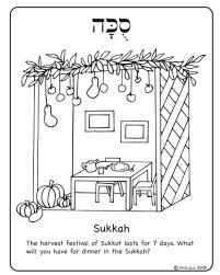 Jewish Holiday Coloring Pages - Ezshowerkit.com   Ezshowerkit.com