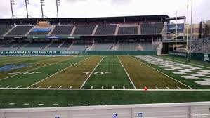 Tulane Stadium Seating Chart Yulman Stadium Section 123 Rateyourseats Com