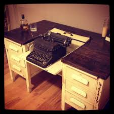 1950 s typewriter desk after