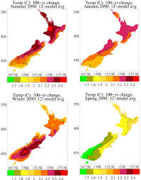 New Zealand Climate Chart 2 Projections Of Future New Zealand Climate Change