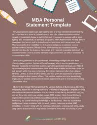 Mba Personal Statement Template Share Online Presentational Ly