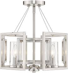 Marco Light Fixtures Golden Lighting 6068 Sf Pw Marco Modern Pewter Flush Mount Light Fixture
