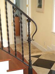 ... Epic Picture Of Staircase Decoration With Iron Hand Railing : Gorgeous  Image Of Home Interior Stair