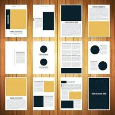 Two Page Brochure Template Two Page Brochure Template 2 Free Stock Vector Creative Business