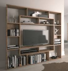 SHELVING UNIT BOOKCASE DISPLAY STORAGE WOOD SHELF TV UNIT