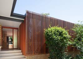 modern architecture. Mid-century Bungalow In Sydney Is Wrapped A Stunning Slatted Wood Screen Modern Architecture