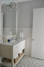 white and gray bathroom with cement tile tulum tiles