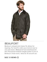 Barbour Size Chart Mens Mens Barbour Clothing Guide Orvis