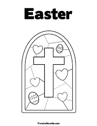 Stained Glass Cross Coloring Page Stained Glass With Cross Coloring