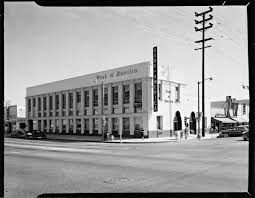 noirish los angeles page skyscraperpage forum the photoset is job 1091 bank of america los angeles calif 1951 above the bank were the offices of gregory m creutz attorney at law