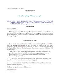 Keng Hua Paper Vs Court Of Appeals 1998 Letters Of Credit Bill