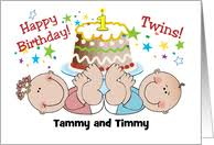 Birthday Cards For Twins From Greeting Card Universe