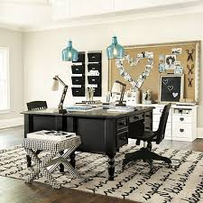 black and white office. home office ensemble 3 drawer desk with hutch black and white m