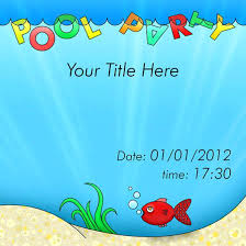 Free Pool Party Invitations Free Pool Party Invitation