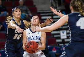 answering these questions could determine success of umaine university of maine senior point guard sigi koizar puts up a shot in front of university of new hampshire s aliza simpson during a game at the cross